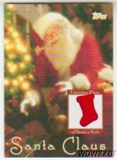 2007 Topps Santa Claus Relic Card with a Piece of Santa Claus Suit MINT !