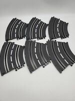 Vintage ARTIN 1/43 Slot Car Track 2 Lane Curve Track 6 PIECES White Lined