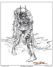 Neal Adams SIGNED DC Comics Batman Art Print ~ Zombie In A Batsuit Dark Knight