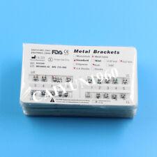 100 Packs Dental Ortho Metal Brackets Standard Roth Slot.022 Hooks 3-4-5 CE&FDA