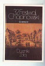 Carte Postale  Pologne - festiwal Chopinowski  1977