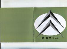 CITROEN  2 CV 4x4 Sahara notice d'entretien / Reproduction actuelle