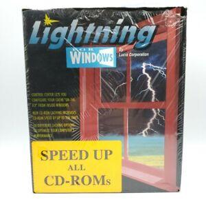 Vintage Lucid Corp Lightning For Windows 3.5 Disks CD Caching New Broken Seal
