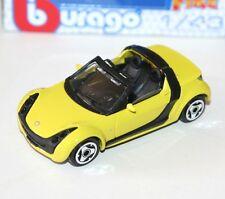 Burago - SMART ROADSTER (Yellow) Open Top - 'Street Fire' Model 1:43