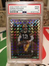 2020 Panini Mosaic Stained Glass #Sg6 Aaron Rodgers Ssp Mint Psa 9