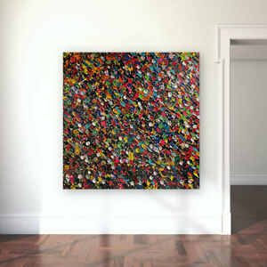 Original Handmade Large Abstract Wall Painting - Free Delivery - Saburi Art