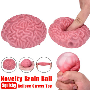 Squishy Brain Toy Squeezable Stress Reliever Ball Anti Stress Cure Squezze Toy