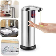 Automatic Hand Dish Sensor Soap dispenser for Kitchen Bathroom Stainless Steel
