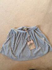 BNWT gris plissée Mini jupe taille M