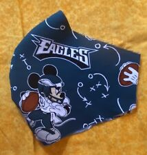 Philadelphia Eagles Fabric Cotton Face Mask Wire Nose Washable Bts School Mickey