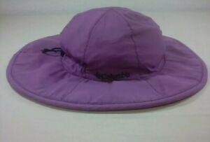 Columbia Omni Shade Sun Protection UPF 50 Boonie Bucket Hat Cap Purple