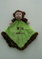 Okie Dokie Monkey Wild For Mommy Baby Security Blanket Lovey Plush Green Tan