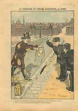 Caricature Anti Francs-Maçons Tablier Maçonnique Police Paris 1911 ILLUSTRATION
