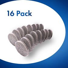16x Round Furniture Felt Pads 25mm Chair Floor Protectors for Hardwood 5mm Thick