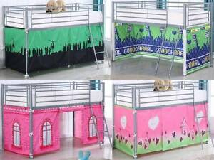 BED TENTS for Metal Wooden Cabin bed Kids Childrens Beds 100% Cotton Boys Girls