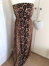 Atmosphere Primark Ladies Leopard Animal Print Long Summer Dress Size 10-12