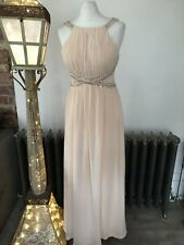 Little Mistress Dress Gown Size 14 Maxi Dress Bridesmaid Prom Lined Peach Cruise