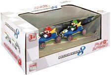 BOX Pack 2 Modelli Pull Back 7cm MARIO LUIGI KART Versione MACH 8 Carrera NUOVO