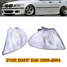 Pair For BMW 3 Series E46 98-01 Front Indicator Turn Signal Corner Clear Lights
