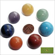 Set di 7 bilanciamento del chakra cristallo Scrying Palline Con Sacchetto
