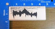 VLVS HALLOWEEN rubber stamp BOLD BATS Spider Web Corner NEW!