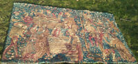 """6x4 French Aubusson Tapestry """"Wine Festival"""" Vineyard Stomping Grapes Winery"""