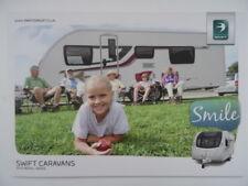 Swift Touring Caravan  Brochure 2015 - Challenger Sport, SE, Conqueror. Specs.
