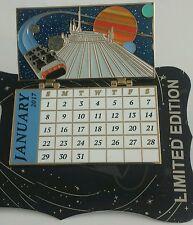 DISNEY WDI E-TICKET 2017 JANUARY CALENDAR SPACE MT. CAST EXCLUSIVE LE 250 PIN