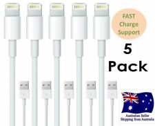 5x Genuine USB Cable for iPhone X 8 7 6 5 SE iPad Air Data Sync Charger Cord