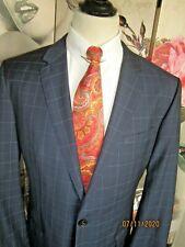 Sehr schönes HUGO BOSS Business Sakko Farbe Blau mit Überkaro Gr. 54 Schurwolle