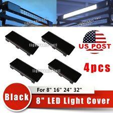 "4x 8"" Black Lens Covers For Straight Curved  LED Work Light Bar 8"" 16"" 24"" 32"""