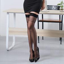 1/3/5Pair Women Striped Elastic Thigh High Stocking Lace Silk Stocking Pantyhose