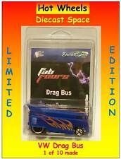 Hot Wheels VW Drag Bus Metallic Blue Flames Fab Four Limited Edition 1 of 10