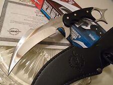 Gil Hibben Silver Chrome Karambit Claw Dagger Knife 5Cr15 Full Tang Micarta 5054