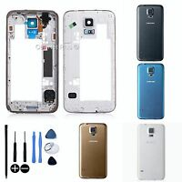 Samsung GALAXY S5 Replacement REAR BATTERY BACK COVER- MIDDLE FRAME- HOUSING