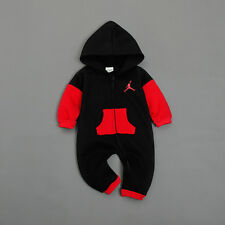 BABY JORDAN ROMPER +HAT BOY WINTER WOOL WARM BABYGROW OUTFITS CLOTHES 0-3 MONTHS