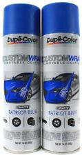 Dupli-Color Custom Wrap Removable Coating Spray On Matte Patriot Blue 14oz Cans