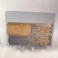 Metallica Buffalo Memorial Auditorium NY Concert Ticket Stub Vtg March 13 1989