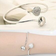 Eternal Shine Designer Crystal Heart Silver Fashion Bangle Bracelet Girls Women