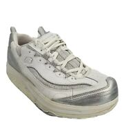 Skechers Shape-Ups 12307, Womens Size 8.5 Toning Shoes Sneakers, White & Silver