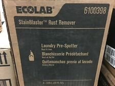 Case of 4 Ecolab Stainblaster Rust Remover Iron Laundry Pre-Spotter 6100398