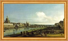 View of Dresden with the Frauenkirche at left Church Elbe Saxony B a3 00860