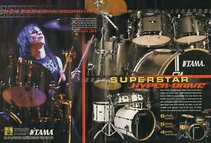2008 2pg Print Ad of Tama Superstar Hyper-Drive Drum Kit Dan Torelli Madina Lake