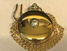 Small Football TG196 Pewter on a Gold Pocket Watch Quartz fob