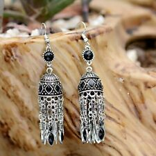 Fashion Bollywood Bohemian Silver Gold  jhumka Handmade Earrings Indian Jewelry/