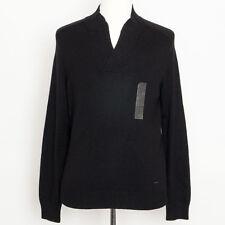 NWT $89.50 Retail Calvin Klein Men's Black Wool Pullover Knit Sweater Size M
