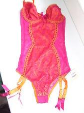 PROVOCATEUR RARA Arancione AGENT ABRACADABRA Body Teddy Taglia Media UK 10-12 BNWT