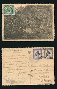 BELGIAN CONGO 1944 WW2 CENSOR on PPC MATADI + AEF COMMISSION A