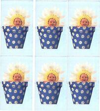 Anne Geddes BABY DAISY Flower POT Scrapbook Stickers! 6 Sheets