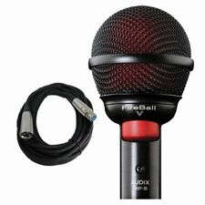 Audix Fireball V Harmonica Beatbox Microphone Fire Ball V and Free xlr Cable NEW